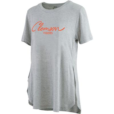 Clemson Pressbox Side Slit Testify Tee