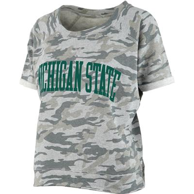 Michigan State Pressbox Camo Splash Tee
