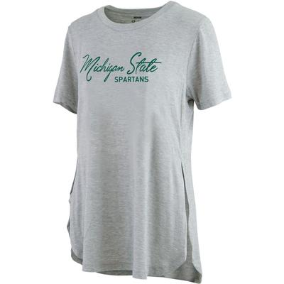 Michigan State Pressbox Side Slit Testify Tee