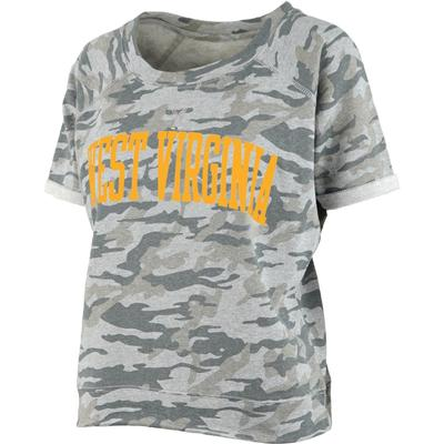 West Virginia Pressbox Camo Splash Tee
