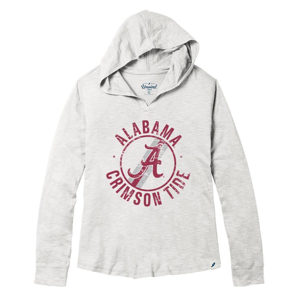 Alabama League Women's Distressed Slub Hoodie