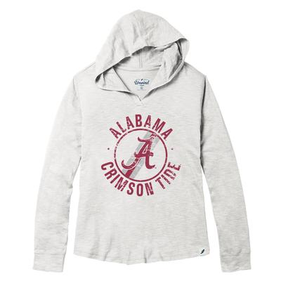 Alabama League Women's Distressed Slub Hoodie