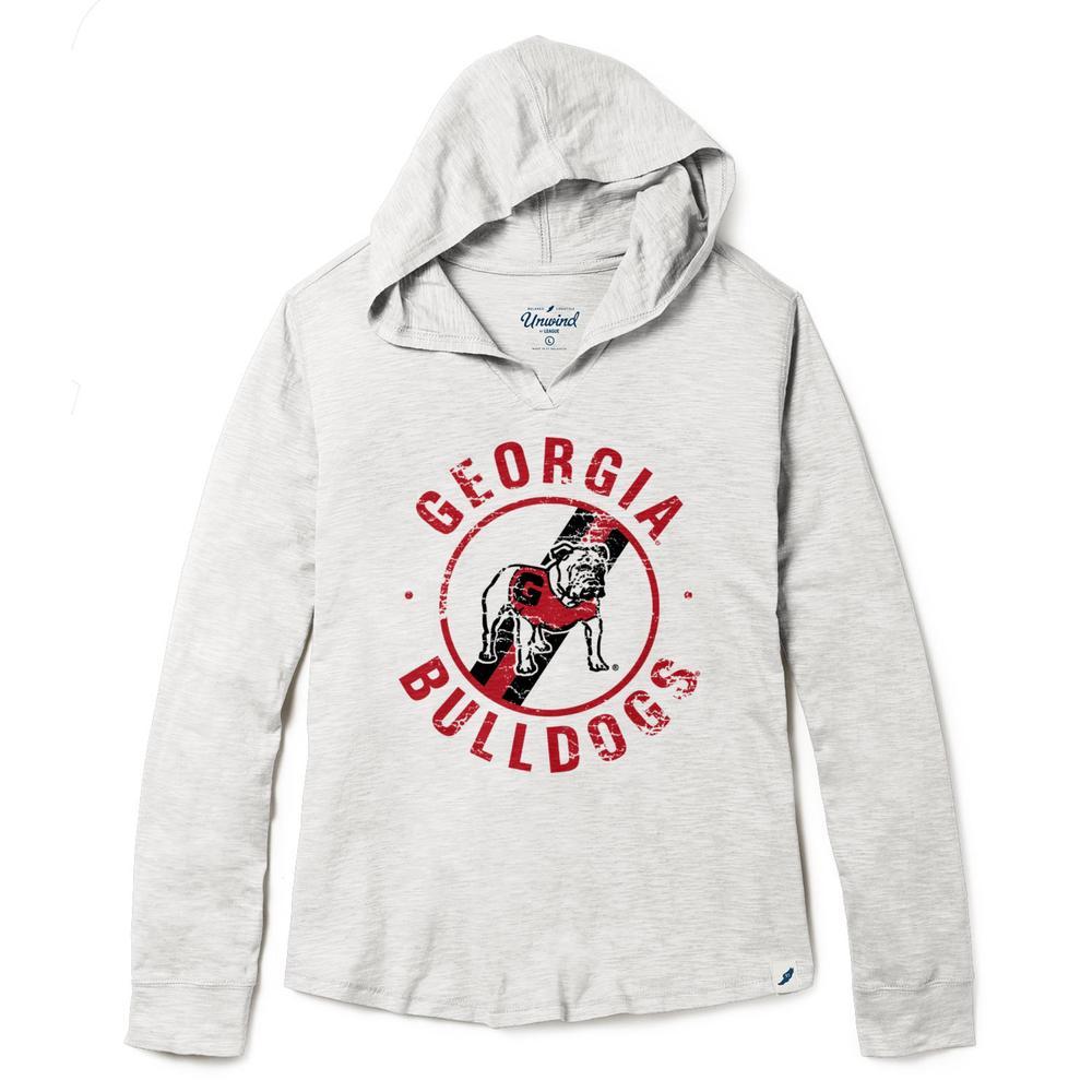 Georgia League Women's Distressed Slub Hoodie