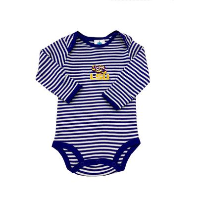 LSU Infant Stripe Body Suit