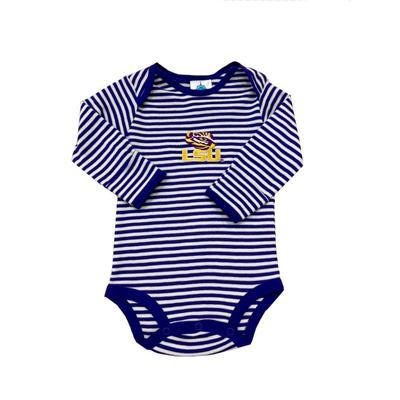 LSU Infant Stripe Body Suit