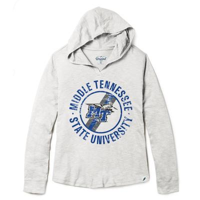 MTSU League Women's Distressed Slub Hoodie