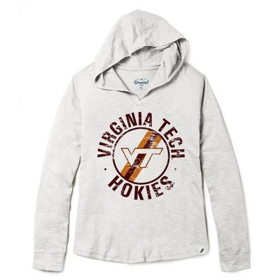 Virginia Tech League Women's Distressed Slub Hoodie