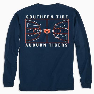 Auburn Southern Tide Basketball Court Long Sleeve Tee