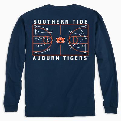 Auburn Southern Tide Basketball Court Long Sleeve Tee