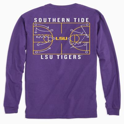 LSU Southern Tide Basketball Court Long Sleeve Tee