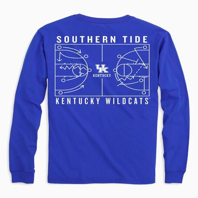 Kentucky Southern Tide Basketball Court Long Sleeve Tee