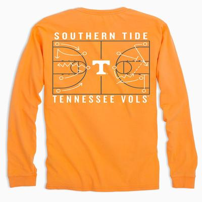Tennessee Southern Tide Basketball Court Long Sleeve Tee