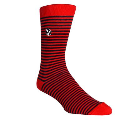 Volunteer Traditions Red and Navy Stripe Tri-Star Dress Socks