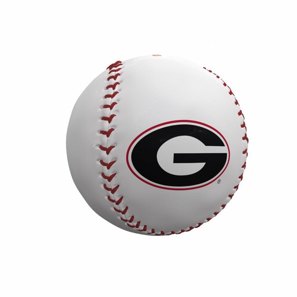 Georgia Bulldogs Logo Autograph Baseball
