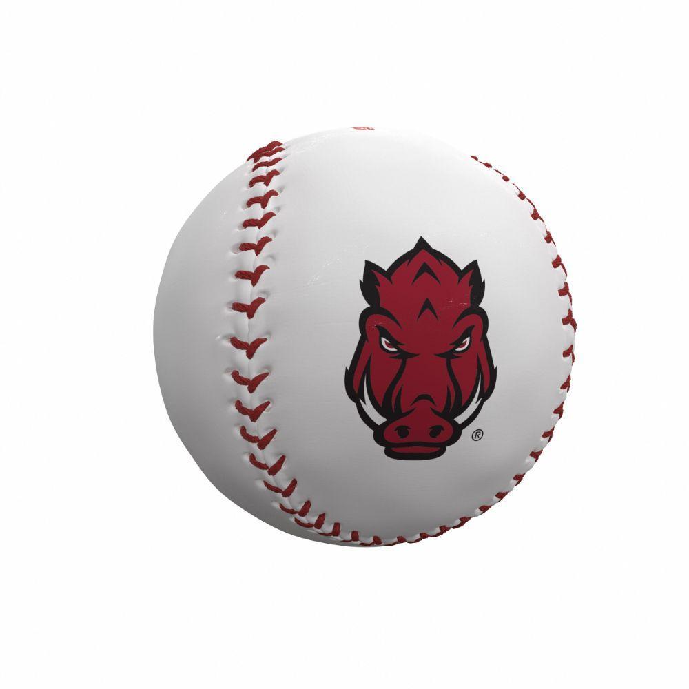 Arkansas Razorbacks Logo Autograph Baseball