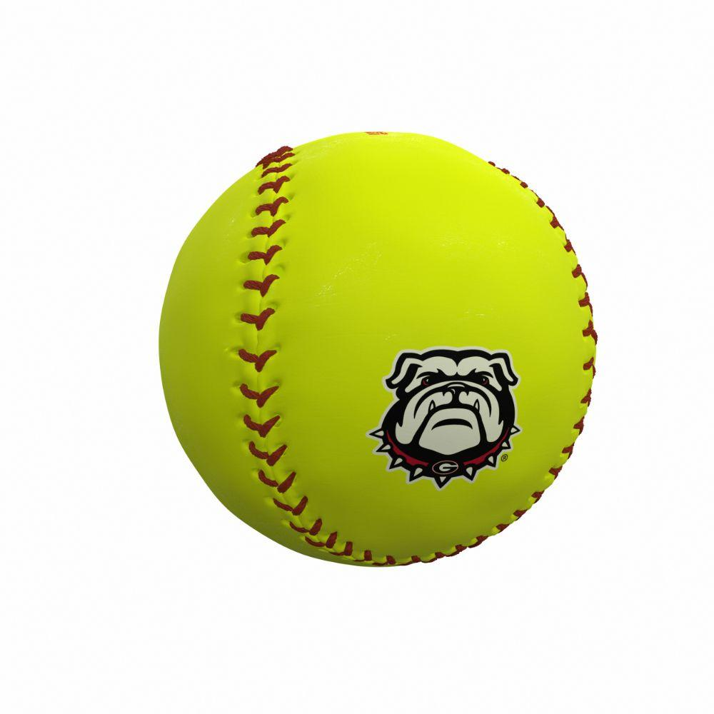 Georgia Bulldogs Logo Autograph Softball