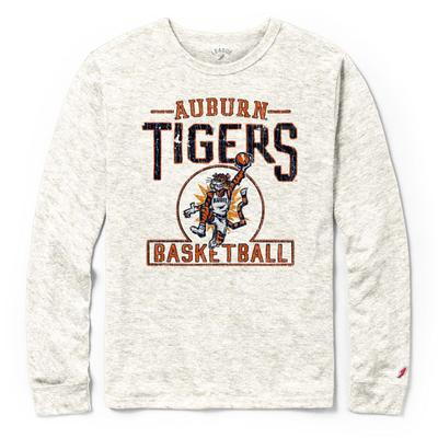 Auburn League Basketball Original Aubie Tri-blend Long Sleeve Tee