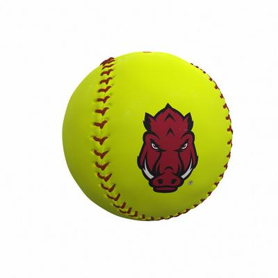 Arkansas Razorbacks Logo Autograph Softball