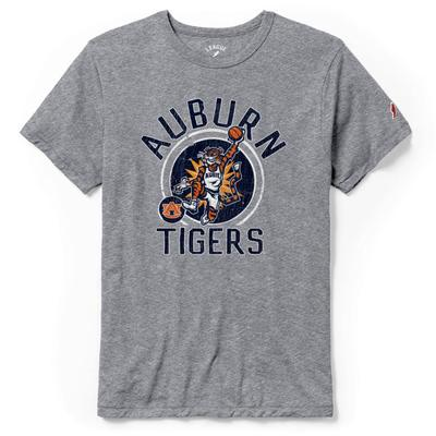 Auburn League Basketball Original Aubie Tri-blend Short Sleeve Grey Tee