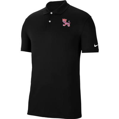 Clemson Nike Golf Retro Logo Dry Victory Solid Polo