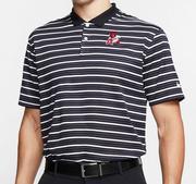 Arkansas Nike Golf Retro Logo Dry Victory Stripe Polo