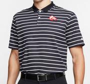 Arkansas Nike Golf Retro Running Hog Dry Victory Stripe Polo