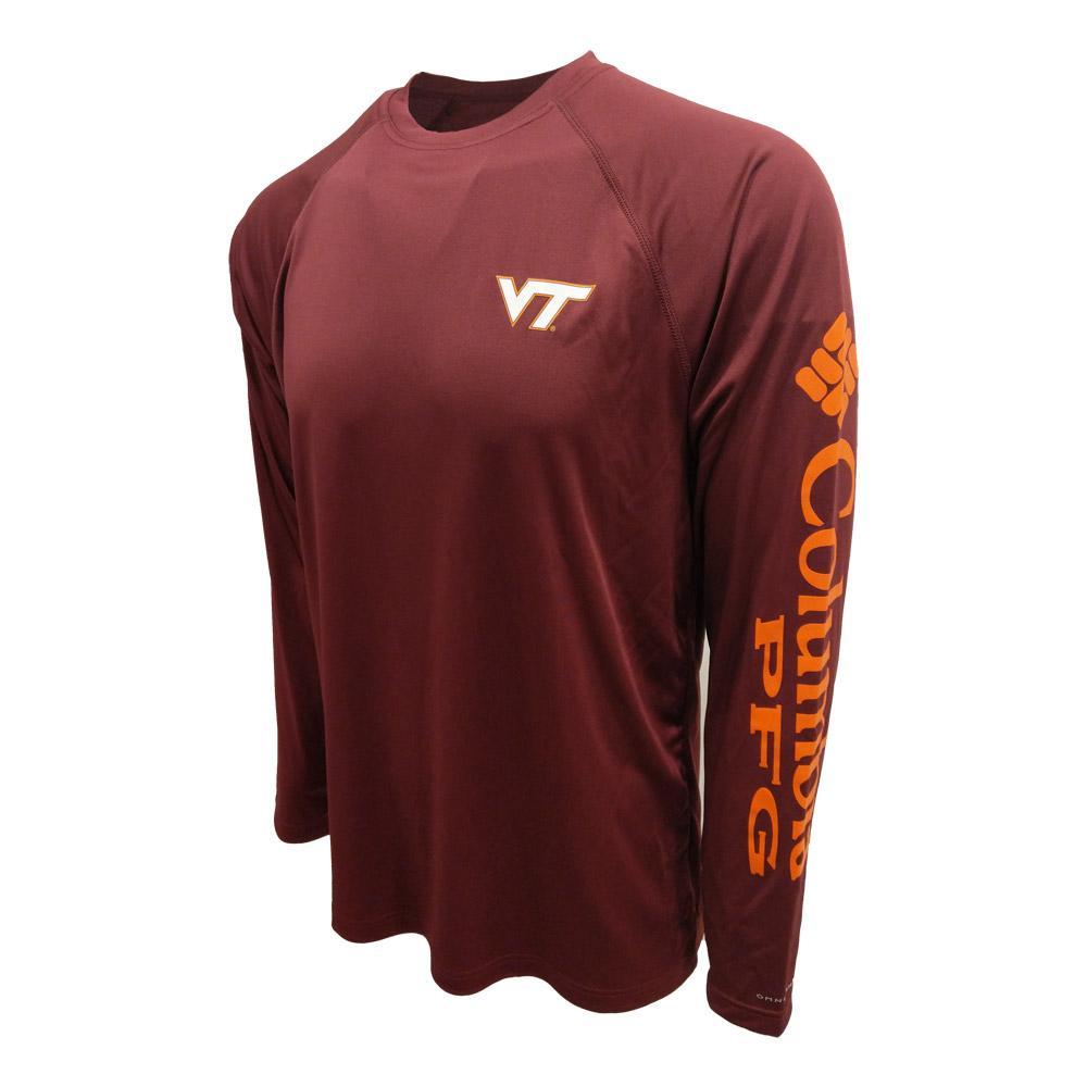 Virginia Tech Columbia Pfg Terminal Tackle L/S Shirt