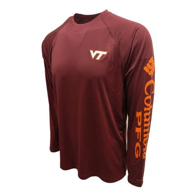 Virginia Tech Columbia PFG Terminal Tackle L/S Shirt