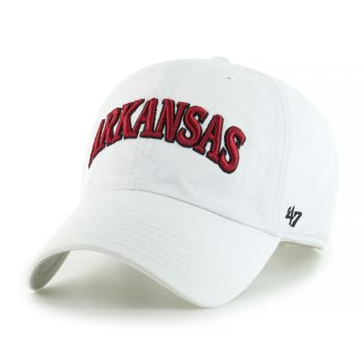 Arkansas 47' Brand Arch Script Clean Up Hat