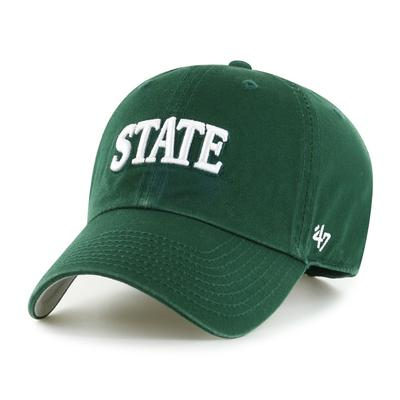 Michigan State 47' Brand Arch Script Clean Up Hat