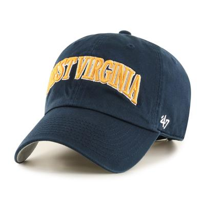 West Virginia 47' Brand Arch Script Clean Up Hat
