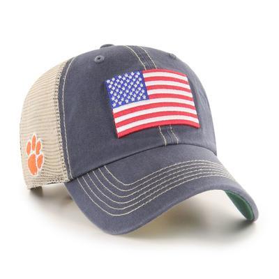 Clemson 47' Brand USA Flag Mesh Hat