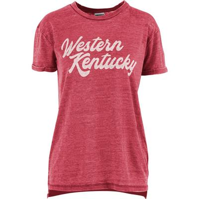 Western Kentucky Pressbox Juniper Script Vintage Wash Tee
