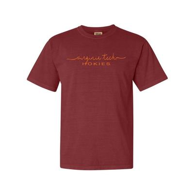 Virginia Tech Summit Women's FC Script Over Mascot Short Sleeve Tee