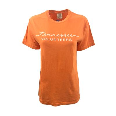 Tennessee Summit Women's FC Script Over Mascot Short Sleeve Tee