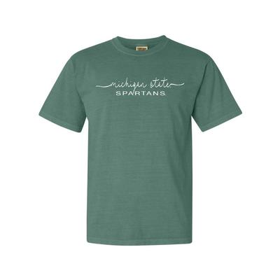 Michigan State Summit Women's FC Script Over Mascot Short Sleeve Tee
