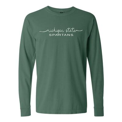 Michigan State Summit Women's FC Script Over Mascot Long Sleeve Tee