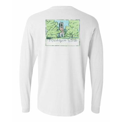 Michigan State Summit Women's Hand Drawn Campus Long Sleeve Tee
