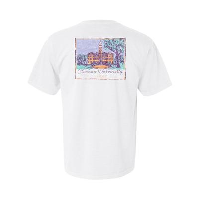 Clemson Summit Women's Hand Drawn Campus Short Sleeve Tee