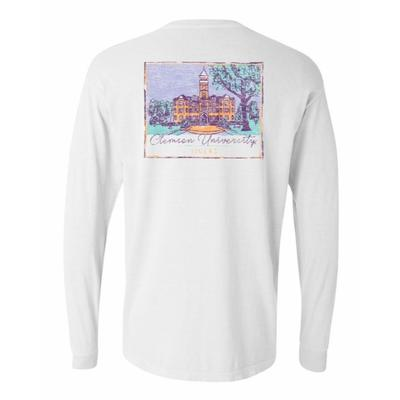 Clemson Summit Women's Hand Drawn Campus Long Sleeve Tee