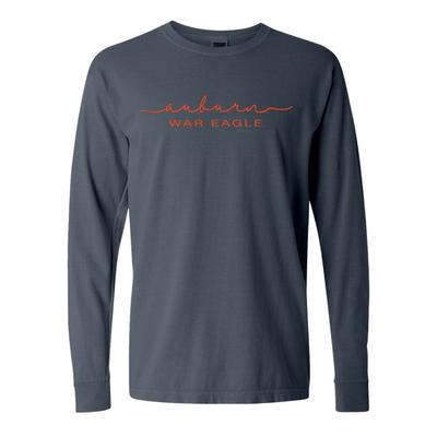 Auburn Summit Women's FC Script Over Mascot Long Sleeve Tee