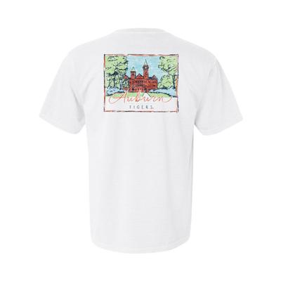 Auburn Summit Women's Hand Drawn Campus Short Sleeve Tee