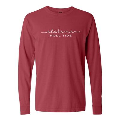 Alabama Summit Women's FC Script Over Mascot Long Sleeve Tee