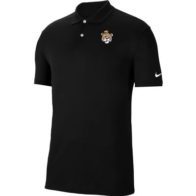 LSU Nike Golf Retro Logo Dry Victory Solid Polo