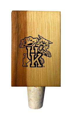 Kentucky Wildcat Timeless Etchings Hickory Bottle Stopper