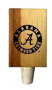 Alabama Crimson Tide Timeless Etchings Hickory Bottle Stopper