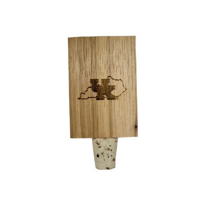 Kentucky Wildcats State Timeless Etchings Hickory Bottle Stopper