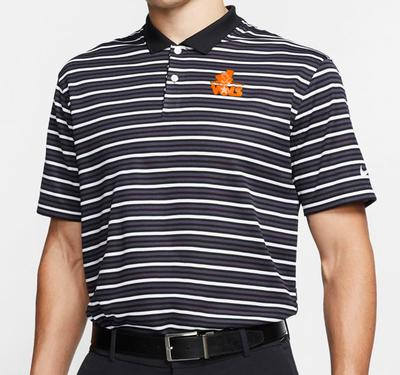 Tennessee Nike Golf Retro Logo Dry Victory Stripe Polo