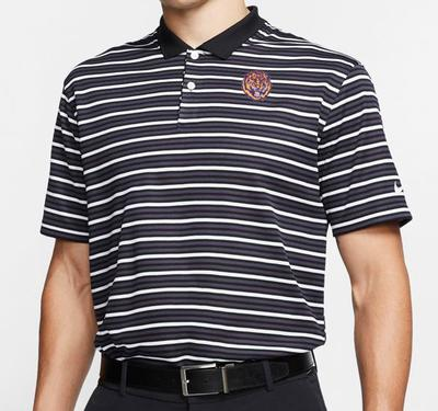 LSU Nike Golf Retro Tiger Dry Victory Stripe Polo