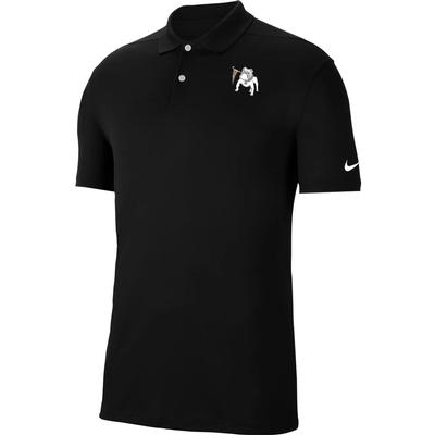 Georgia Nike Golf Retro Dawg Logo Dry Victory Solid Polo